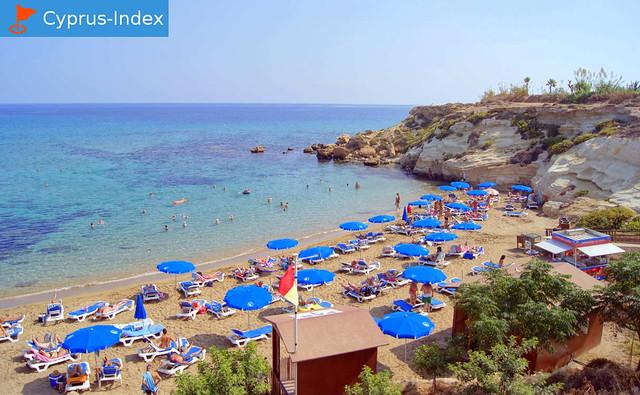 Пляж Каппарис. Пляжи Кипра а городе города Протарас