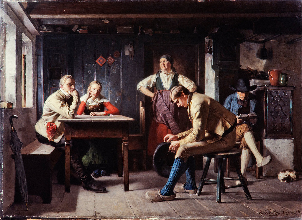 Proposal by Axel Kulle. Wilhelm bought this painting directly from the artist in Paris in 1881