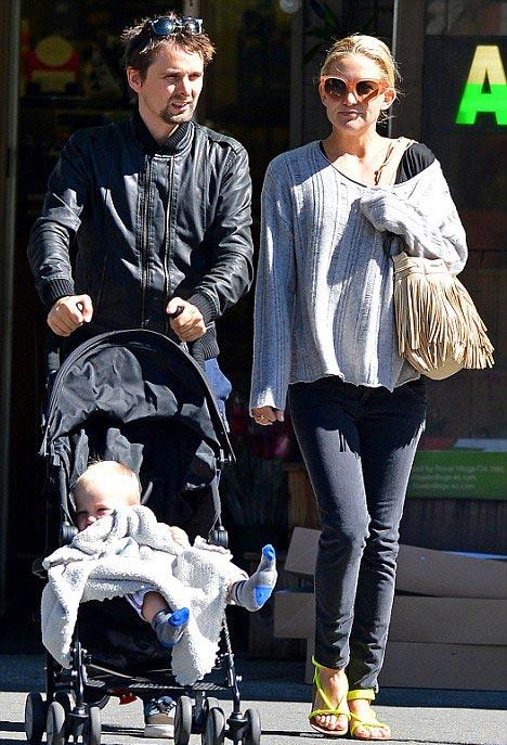 Кейт Хадсон с ребенком Мэттью Беллами