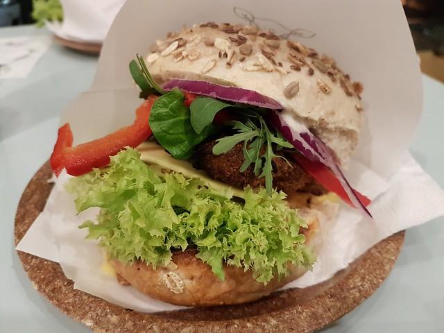Seitanex-burgare på Krowarzywa Vegan Burger