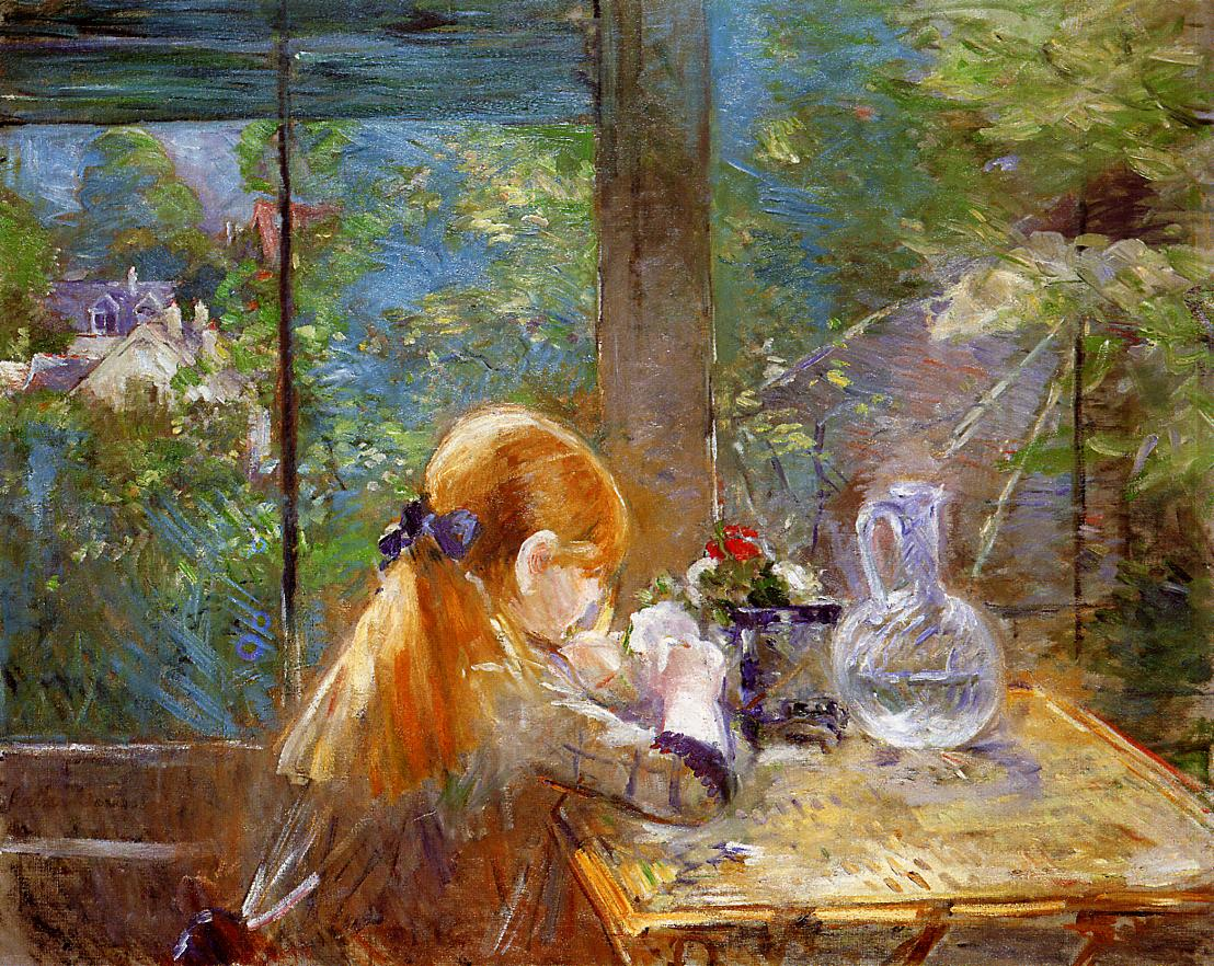 On the Veranda by Berthe Morisot, 1884