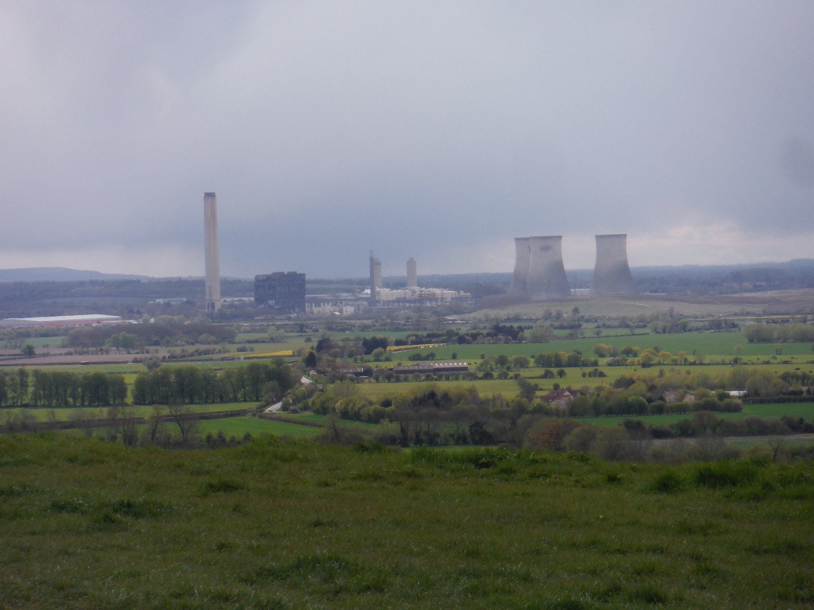 Didcot Power Station from Round Hill SWC Walk 44 - Didcot Circular
