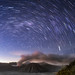 Star Trail Over the Eruption of Mount Bromo by eggysayoga