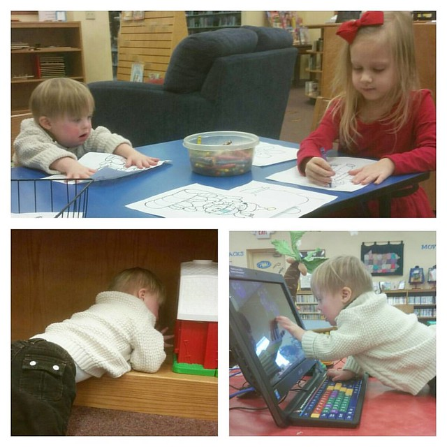 One of our favorite places to visit. Seriously. We log in so many hours at our local library and the kids never get bored!