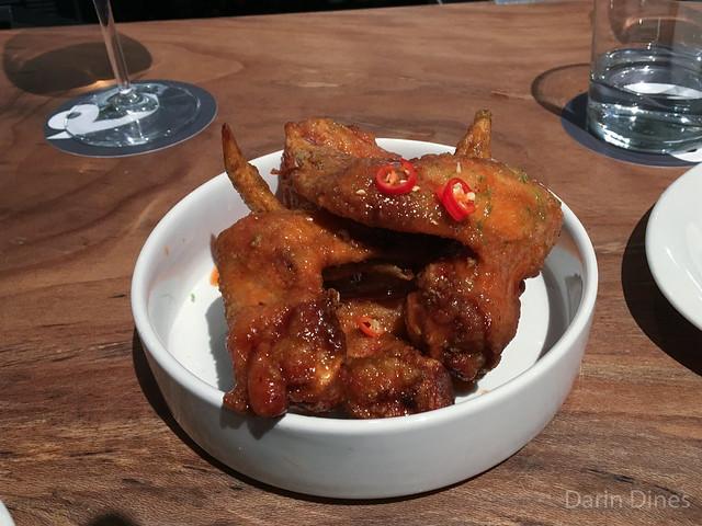 Pretty Hot Wings Nam Pla fish sauce+garlic marinade, tamarind+Sriracha glaze