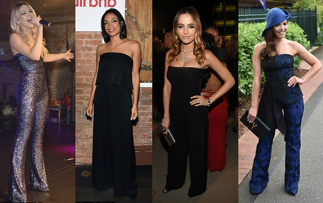 how-to-style-strapless-wideleg-jumpsuit, black-wideleg-jumpsuit, navy-blue-strapless-wide-leg-jumpsuit, how-to-style-wide-leg-jumpsuits, celebrities-wearing-strapless-wide-leg-jumpsuit