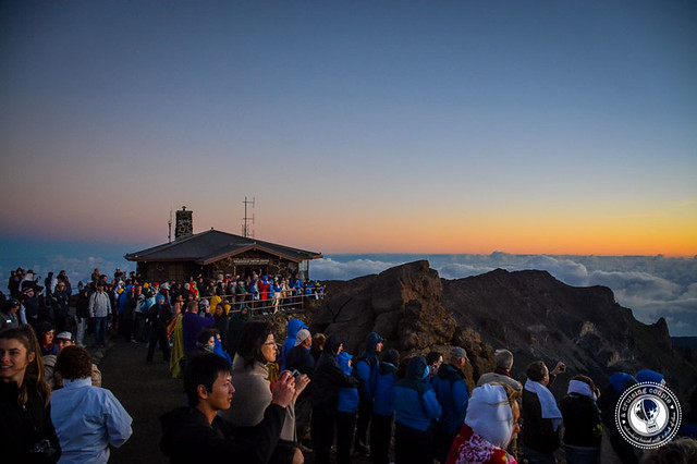 Mount Haleakala Sunrise Crowd