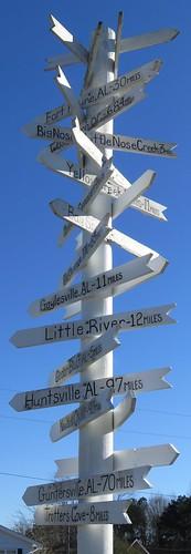 Direction Post (Centre, Alabama)