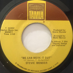 STEVIE WONDER:WE CAN WORK IT OUT(LABEL SIDE-A)