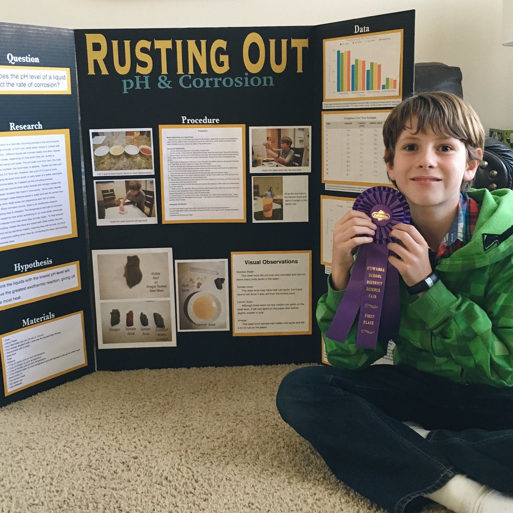 First place science fair project