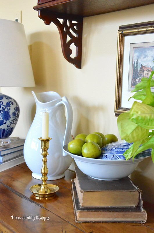 Pre-Spring Vignette with Blue and White - Housepitality Designs