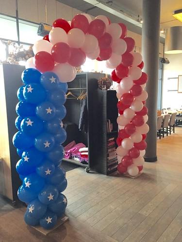 Ballonboog 6m Amerikaanse Vlag Stars and Stripes De Olijfboom Barendrecht