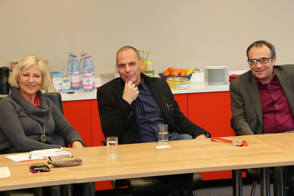 Dagmar Enkelmann, Yanis Varoufakis, Florian Weis