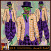 ALB MARDI GRAS costume male incl boots hat necklace by AnaLee Balut - ALB DREAM FASHION