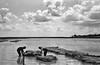 Das Hanfwasser 1944, rechts im Hintergrund der Kalvarienberg. Aufnahme des berühmten Bildjournalisten Willy Pragher.