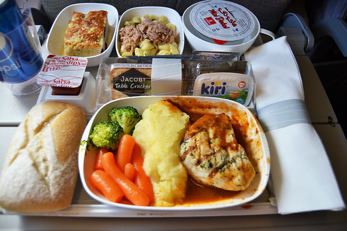 Emirates Dinner Airline Meal Singapore - Dubai [SIN-DXB]