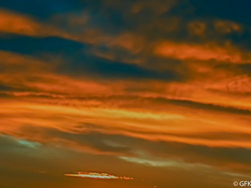 sunset sky orange clouds colorful