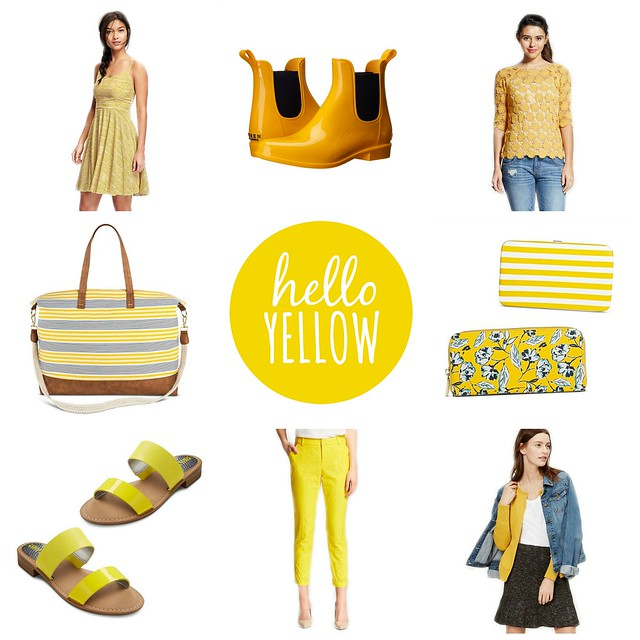 on trend: Hello Yellow; spring 2016 trend