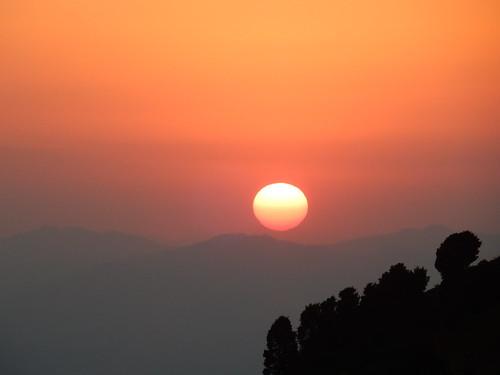 Reserva Mariposa Monarca - sunset op parkeerterrein