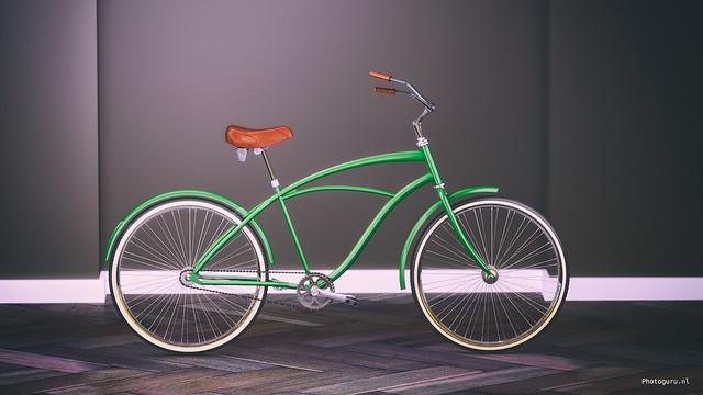 concept fiets zijaanzicht