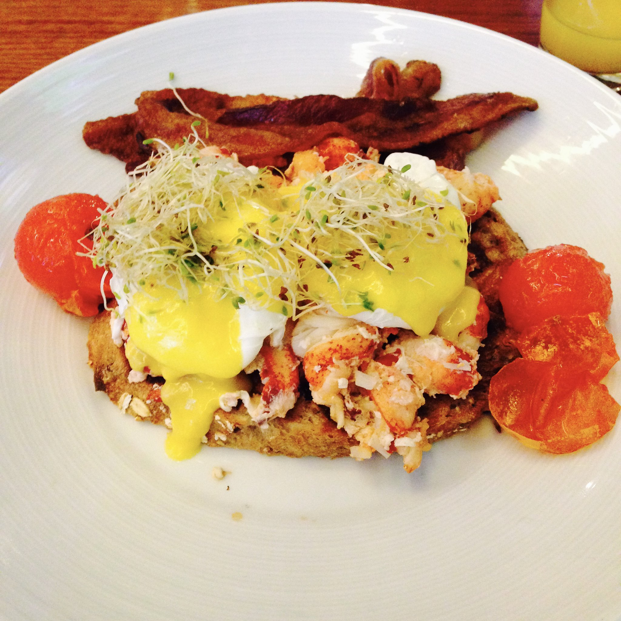 Lobster Eggs Benedict at Hyatt Regency Boston