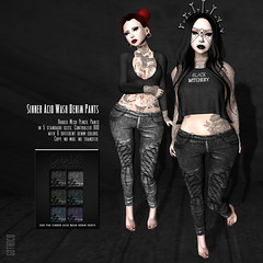 Goth1c0: Sinner Acid Wash Denim PantsPIC