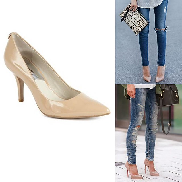 how to wear nude patent leather heels