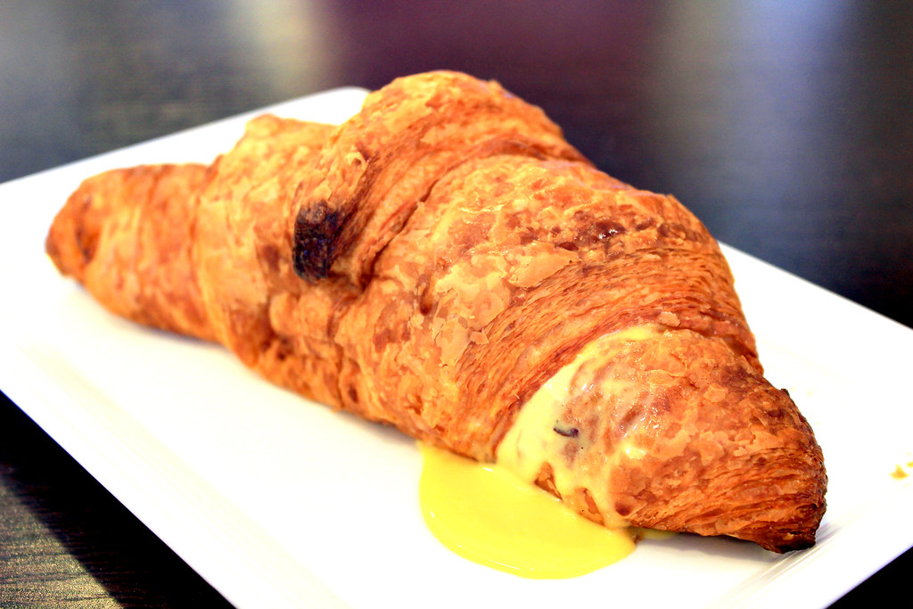 Flavour Flings Salted Egg Croissant Close Right