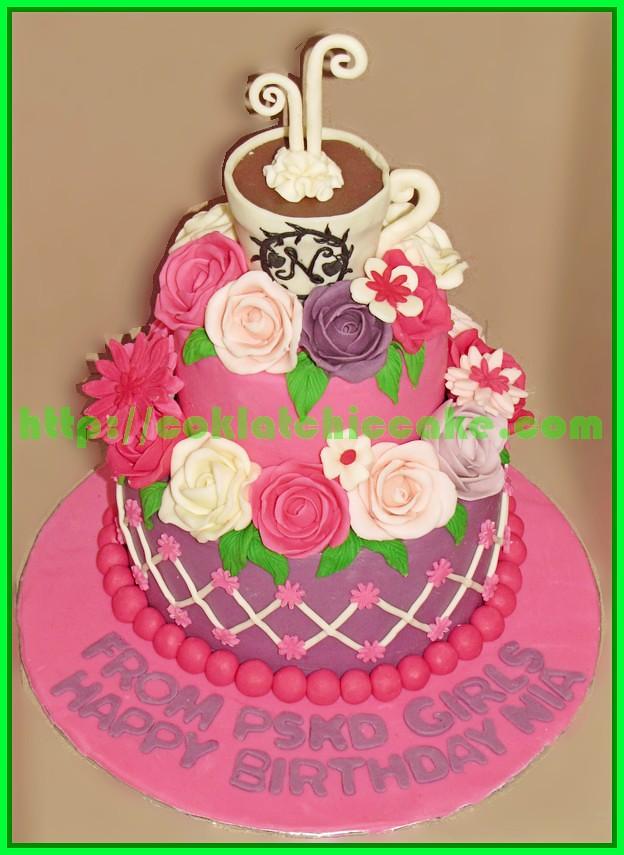Cake Bunga Dan Kopi
