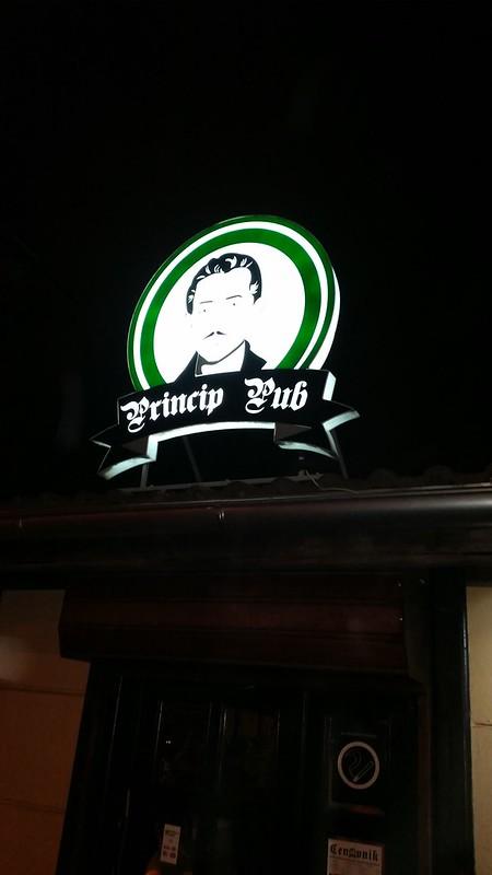 Novi Belgrad and Gavrilo Princip Pub