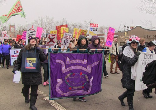International Women's Day March 2016 - Edmonton