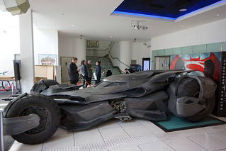 The Establishing Shot: BATMAN V SUPERMAN: DAWN OF JUSTICE BATMOBILE AT THE ODEON LEICESTER SQUARE - LONDON
