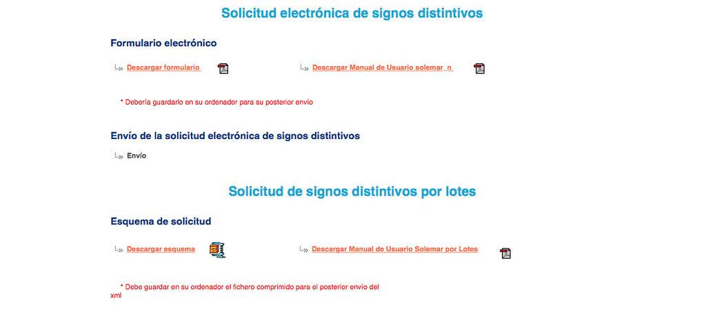 Captura de la web de la OEPM