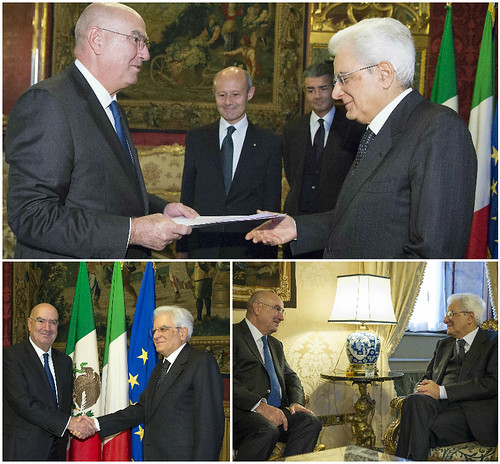 Juan José Guerra Abud presentó cartas credenciales como Embajador de México en Italia