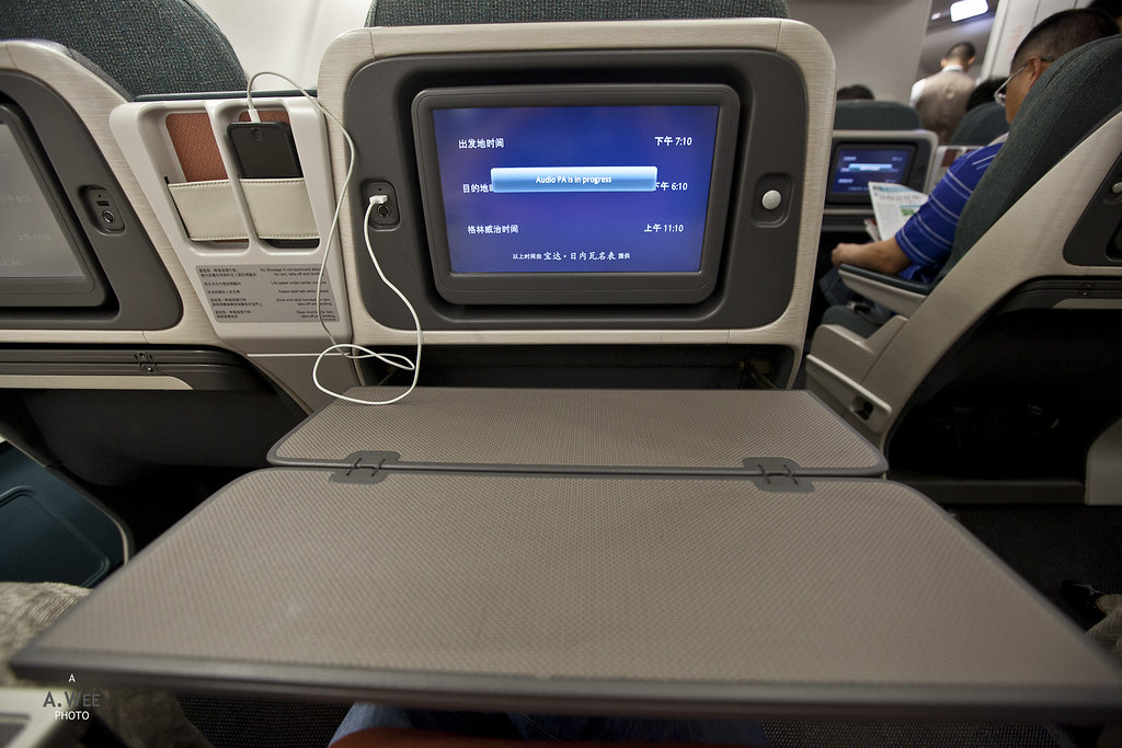 Extended tray table