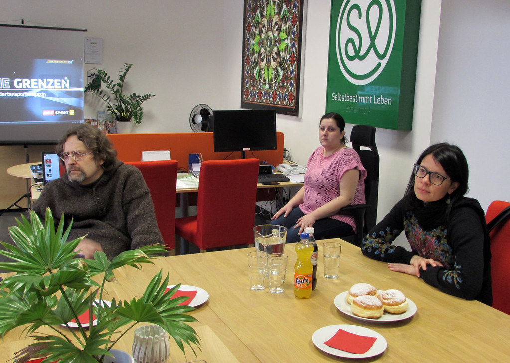 Info-Treffen der E-Rolli-Fussball Gruppe Graz