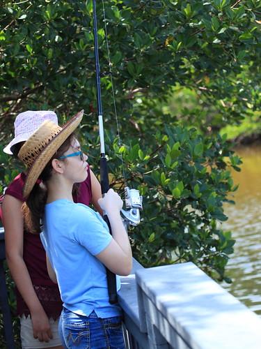 Graci and Cari fishing 20160328