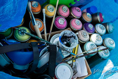 Sensei23 painting guitar mural (WIP)