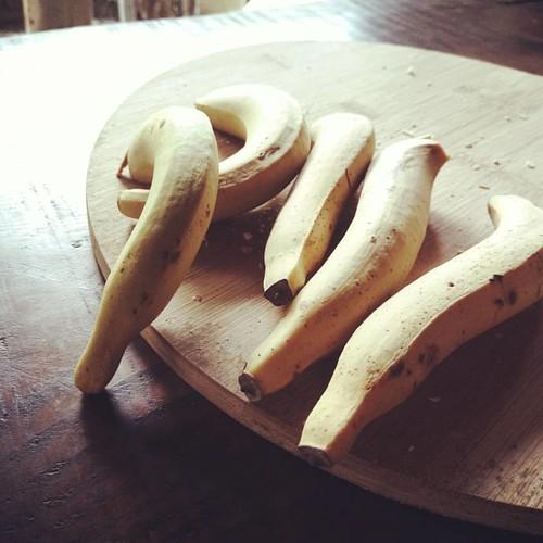 像手指大小的香蕉。甜,有點芭蕉的味道。 #banana
