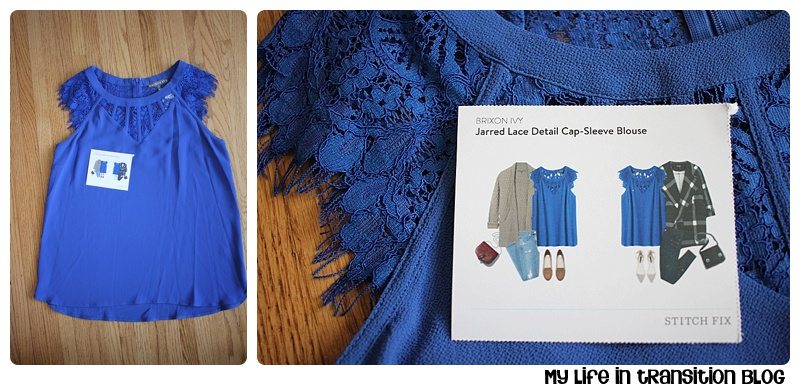 Brixon Ivy Jarred Lace Detail Cap Sleeve Blouse $68