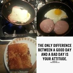 TGIF! Breakfast of champions...lol. Eggs, Canadian bacon, havarti cheese plus Hawaiian bread #breakfast #homecook #longbeachca #losangeles #southernca #food
