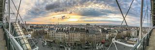 Image of Centre Georges Pompidou near Paris 04. roof sky paris france tower europe îledefrance eiffeltower eiffel roofs exposition ciel toit eiffelturm pompidou centrepompidou beaubourg centregeorgespompidou toits georgespompidou iphone6s iphone6splus madewithiphone6s 16avril2016 avril2016