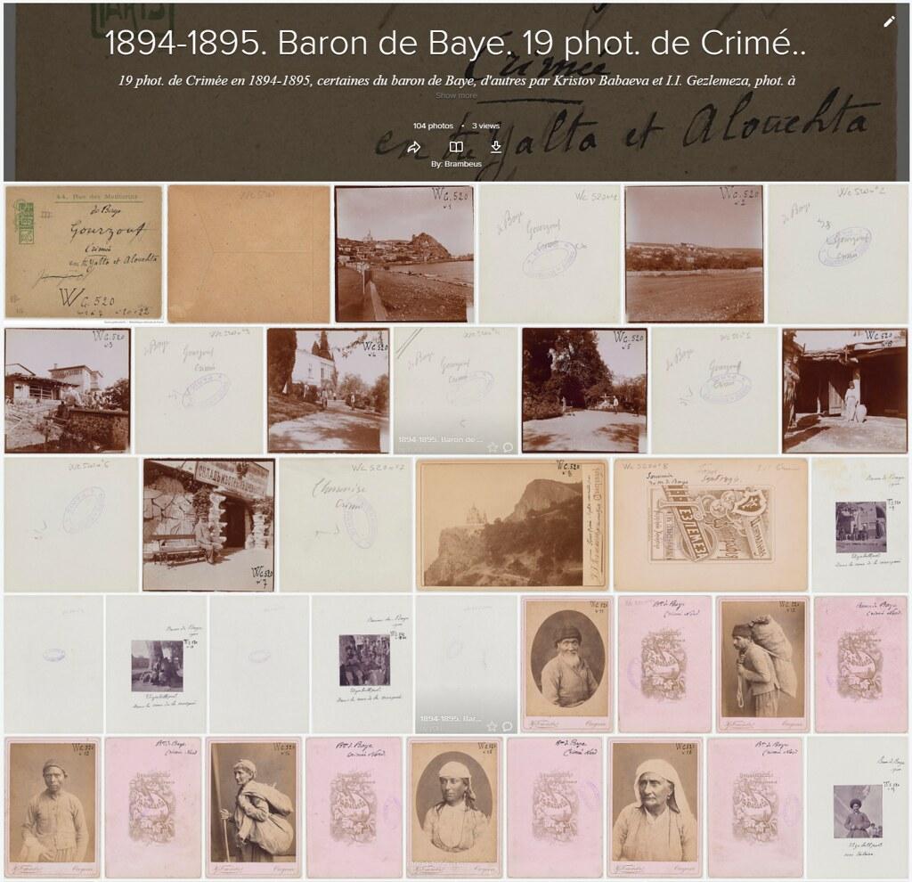 1894-1895. Baron de Baye. 19 phot. de Crimée. BnF