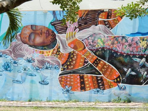 Bacalar - muurschildering