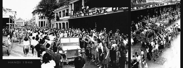 Photo:HANOI 1946 - Rue Paul Bert, nay là phố Tràng Tiền By manhhai