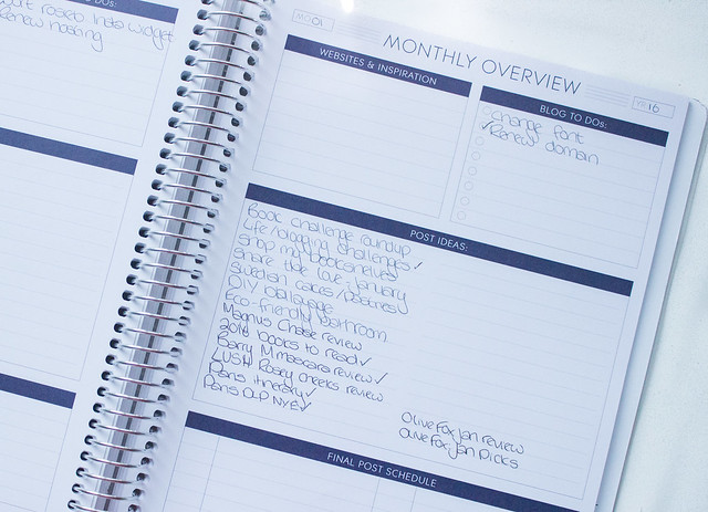 Paper Plum planners monthly overview