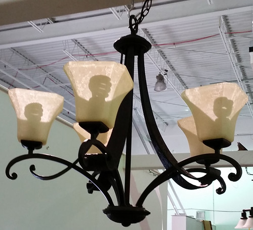 Wrought iron chandelier $100