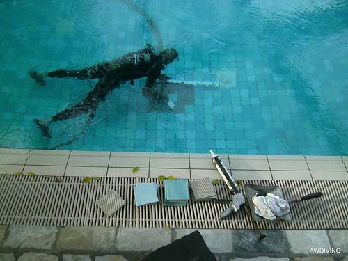 Tegelzetter zwembad