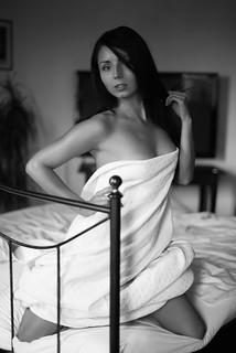 Girl in towel