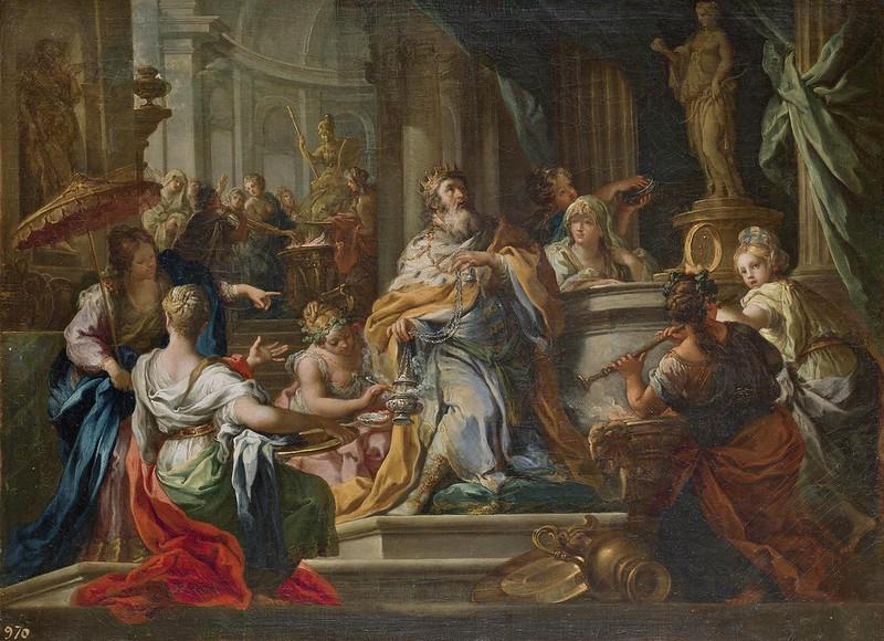 Sebastiano Conca - La idolatría de Salomón (c.1750)